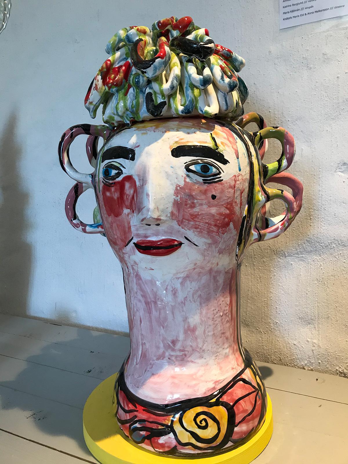 Christina Roos Figur Höjd 59 cm bredd 34 cm pris 8000 kr