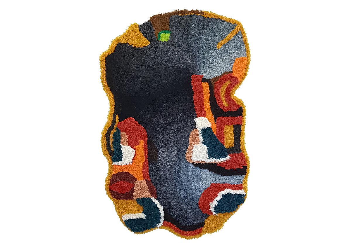 Jonathan Josefsson, Matta 189, 2019, Tuftad matta i ull, 180 x 130 cm 64 000 kr