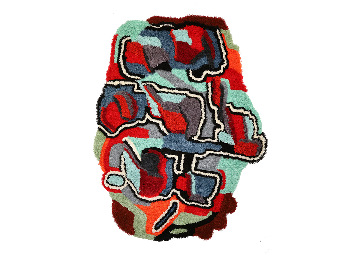 Jonathan Josefsson, Matta 214, 2021, Tuftad matta i ull, 170 x 125 cm 65 000 kr