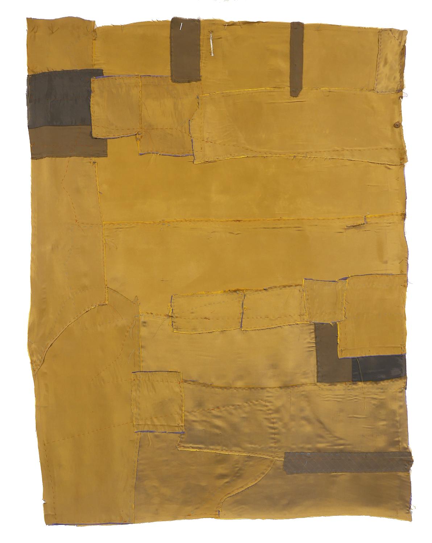 Maria Lilja,Cutting Up 13 Green In Textil, 125 x 90 cm